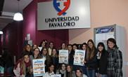 Acción de alumnas de la Lic. en Nutrición por la buena alimentación en nuestra Universidad