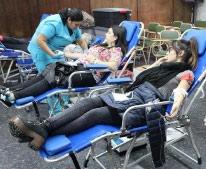 Colecta de sangre y donación de medula ósea: activa participación de alumnos UF