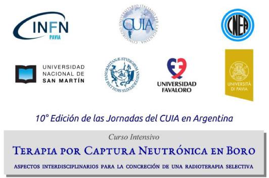La UF sede del curso intensivo Terapia por Captura Neutrónica en Boro, en la 10º Jornadas del CUIA en Argentina