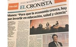 """Manes: """"Para que la economía crezca, hay que invertir en educación, salud y ciencia"""""""
