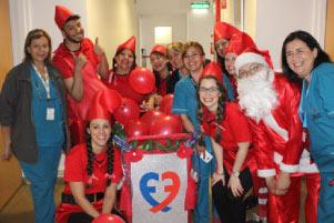 Recorrida navideña en la Fundación Favaloro