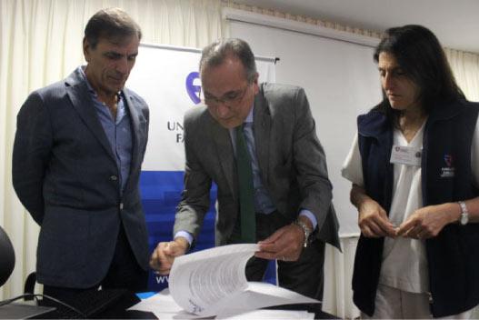 Firma de acuerdo con la CONEAU para comenzar la Evaluación Institucional