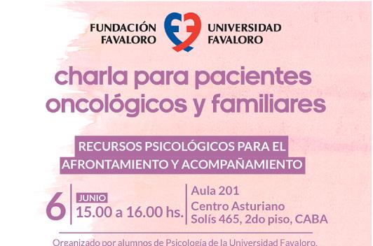 Charla para pacientes oncológicos y familiares